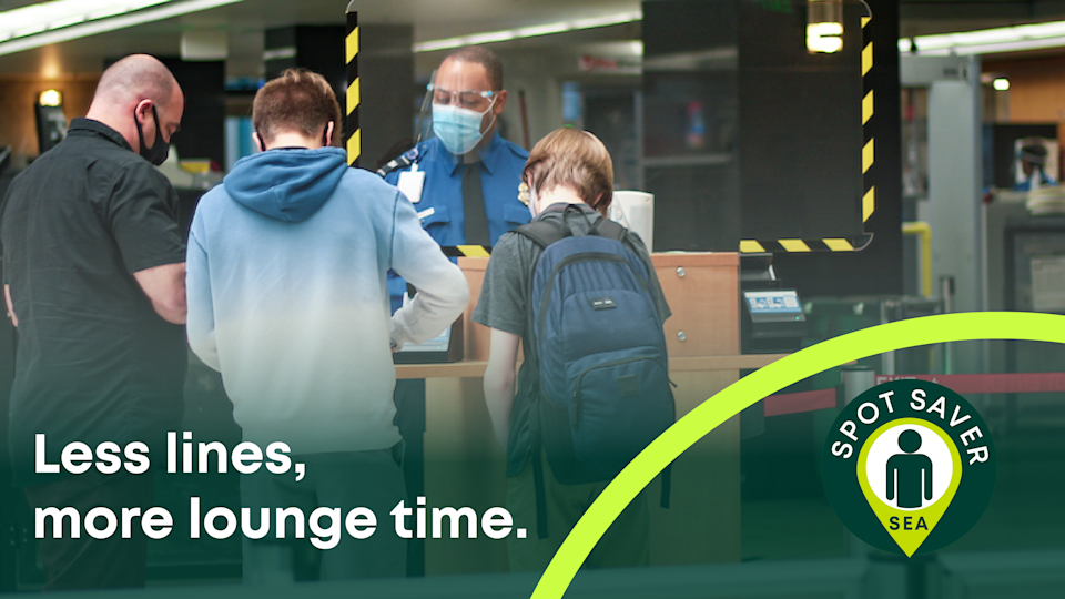 The SEA Spot Saver program aims to save travelers wait time in the TSA line.