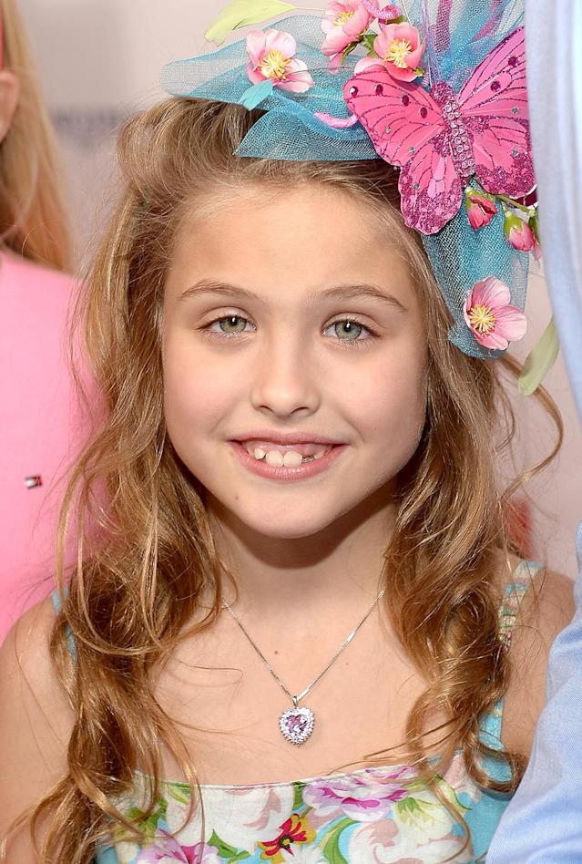<p>The 7-year-old's snaggletooth smile made her all the more precious. (Photo: Gustavo Caballero/Getty Images for Moet & Chandon) </p>