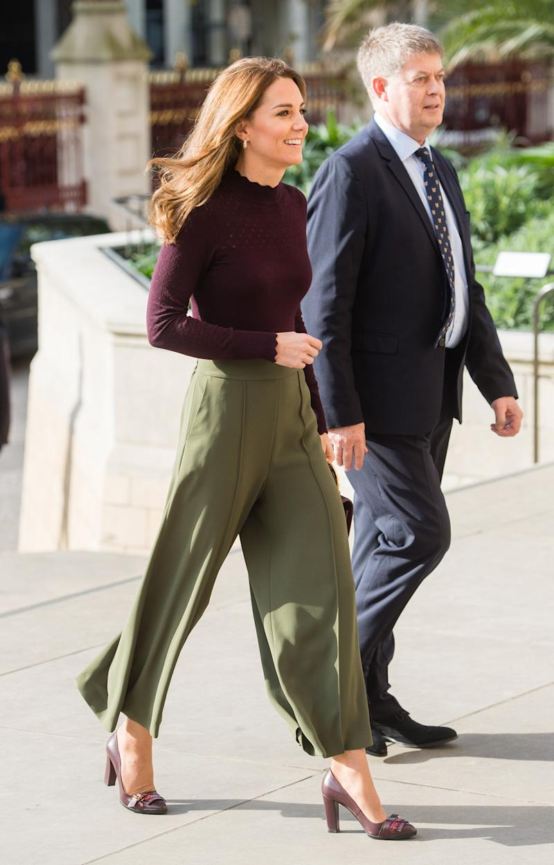 LONDON, ENGLAND - OCTOBER 09: Catherine, Duchess of Cambridge visits The Angela Marmont Centre For UK Biodiversity at Natural History Museum on October 09, 2019 in London, England. HRH is Patron of the Natural History Museum. (Photo by Samir Hussein/WireImage)