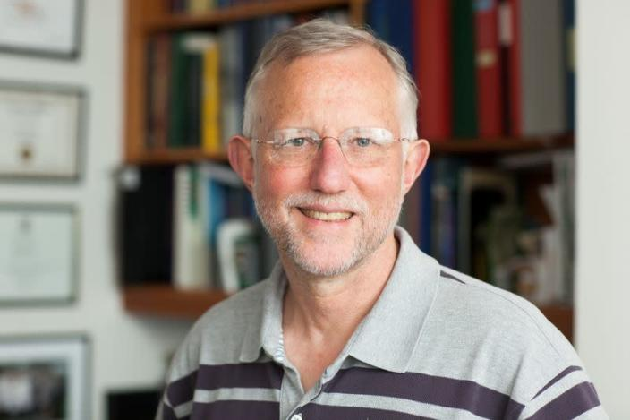 Professor Charles M. Rice of Rockefeller University, who was named as one of three scientists to be awarded the 2020 Nobel Prize in Physiology or Medicine, poses in New York