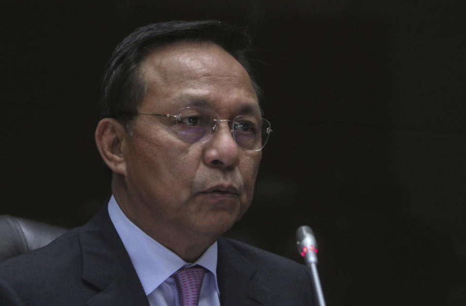 Johor mentri besar Datuk Hasni Mohammad said the state's economy contracted by 4.6 per cent and at the national level it contracted by 5.6 per cent last year. — Bernama pic