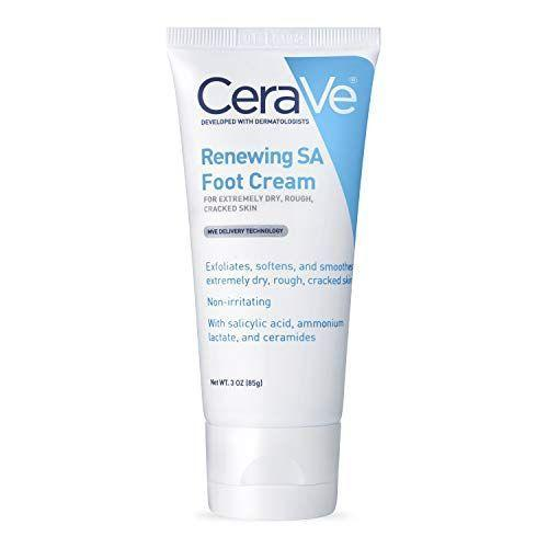 """<p><strong>CeraVe</strong></p><p>amazon.com</p><p><strong>$20.95</strong></p><p><a href=""""https://www.amazon.com/dp/B00GMMS9L2?tag=syn-yahoo-20&ascsubtag=%5Bartid%7C2141.g.37518421%5Bsrc%7Cyahoo-us"""" rel=""""nofollow noopener"""" target=""""_blank"""" data-ylk=""""slk:Shop Now"""" class=""""link rapid-noclick-resp"""">Shop Now</a></p><p>This dermatologist-approved foot cream contains salicylic acid, which is great for exfoliating dry and rough skin on the feet. It's received a 4.6-star rating and Amazon reviewers have noted how pleased they are with their new soft feeling skin after just one use. </p>"""