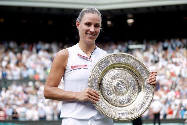 Angelique Kerber will aim to lift another Wimbledon title at the end of the week
