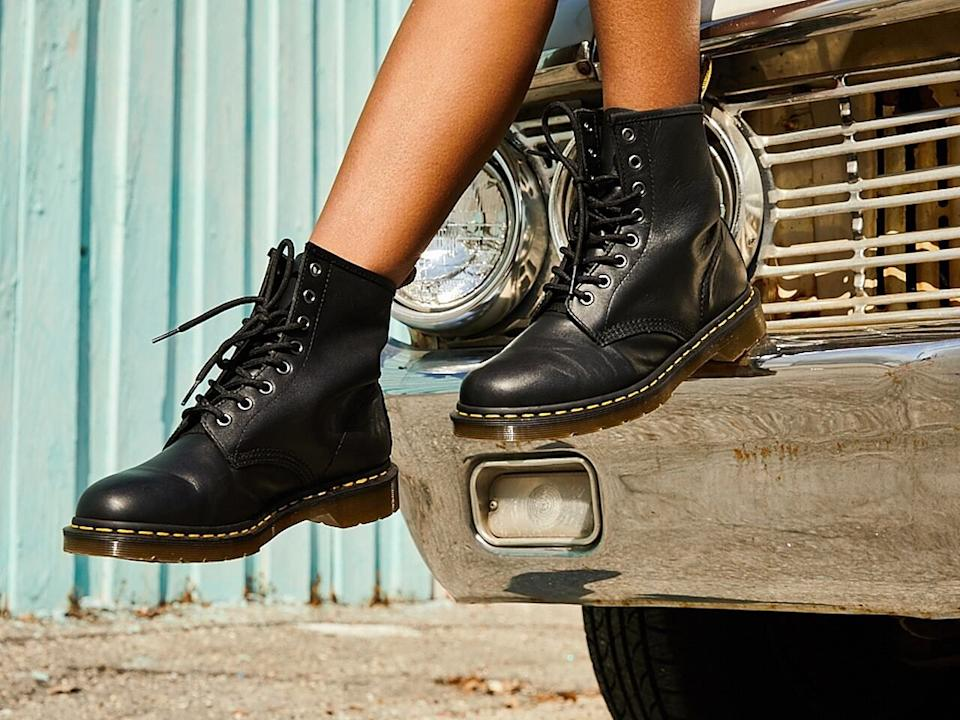 """They'rea trendy choice in the footwear department. They're also great for getting you through rough winter conditions, and they'll last awhile.<br /><br />""""They're such a great brand of boot to buy and have last forever. They're especially great if you live in a place with harsh winters."""" — cshannon<br /><br /><strong><a href=""""https://go.skimresources.com?id=38395X987171&xs=1&xcust=HPTeenAprprovedProducts-60a5636fe4b03e1dd392005a-&url=https%3A%2F%2Fwww.dsw.com%2Fen%2Fus%2Fproduct%2Fdr.-martens-1460-combat-boot%2F247425"""" target=""""_blank"""" rel=""""noopener noreferrer"""">Get them from DSW for $139.99+ (available in two styles, and sizes 5–11).</a></strong>"""