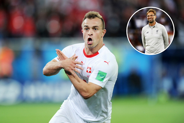 Switzerland star Xherdan Shaqiri could be set for a big move to Liverpool from recently-relegated Stoke, according to reports