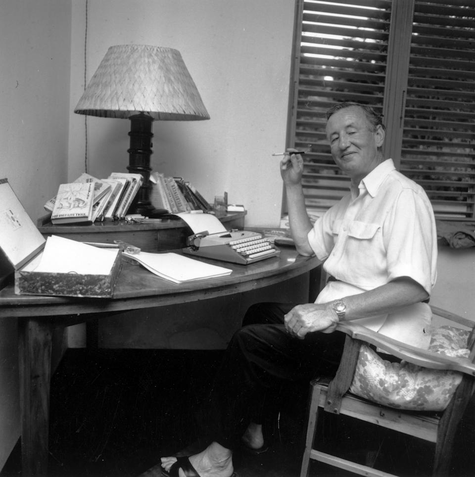 British spy writer Ian Fleming at his home, Goldeneye, in Jamaica. (Photo by Harry Benson/Express Newspapers/Getty Images)