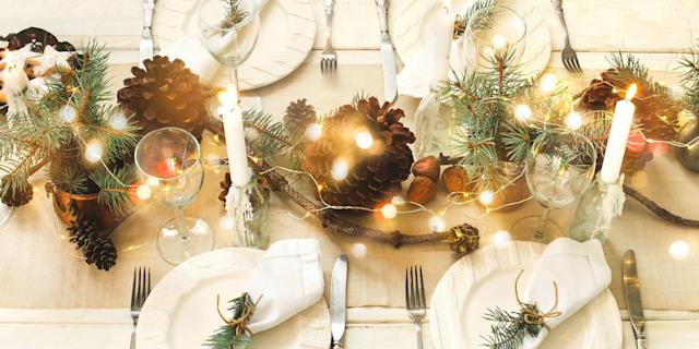 """<p>We're willing to bet that some of your friends and family's favorite holiday memories happened at the <a href=""""https://www.countryliving.com/food-drinks/g635/holiday-recipe-book-1108/"""" rel=""""nofollow noopener"""" target=""""_blank"""" data-ylk=""""slk:dinner table"""" class=""""link rapid-noclick-resp"""">dinner table</a>. Set a memorable Christmas table this season with these <a href=""""https://www.countryliving.com/home-design/decorating-ideas/advice/g1247/holiday-decorating-1208/"""" rel=""""nofollow noopener"""" target=""""_blank"""" data-ylk=""""slk:holiday decorating ideas"""" class=""""link rapid-noclick-resp"""">holiday decorating ideas</a>. From stunning Christmas centerpieces to <a href=""""https://www.countryliving.com/food-drinks/g4762/christmas-placemats/"""" rel=""""nofollow noopener"""" target=""""_blank"""" data-ylk=""""slk:place settings"""" class=""""link rapid-noclick-resp"""">place settings</a> and more table decorations, our tablescapes are sure to sparkle-<em>and </em>spark some special moments.</p>"""