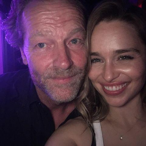 """<p>To celebrate Glen joining Instagram, Khaleesi herself shared a montage of photos of herself with the actor who played Ser Jorah Mormont on the fantasy drama for eight years. </p><p>'My hero and my guide for over a decade,' Clarke wrote of Glen in the caption. The photos included behind-the-scenes pictures from the Thrones set as well as Glen playing his acoustic guitar and the pair at a party. </p><p>Two years after the show's finale, we love to see it.</p><p><a href=""""https://www.instagram.com/p/CRyrVAMlk6d/"""" rel=""""nofollow noopener"""" target=""""_blank"""" data-ylk=""""slk:See the original post on Instagram"""" class=""""link rapid-noclick-resp"""">See the original post on Instagram</a></p>"""