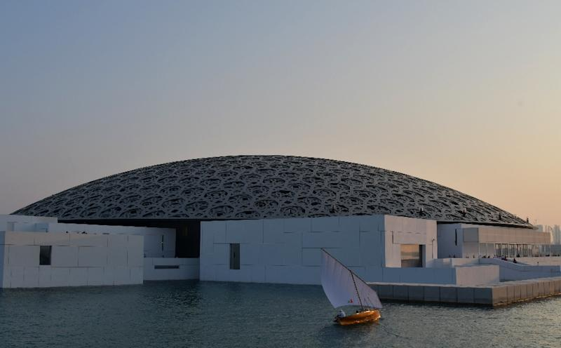 The Louvre Abu Dhabi was designed by French architect Jean Nouvel and is the first of three museums to open on the emirate's Saadiyat Island (AFP Photo/GIUSEPPE CACACE)