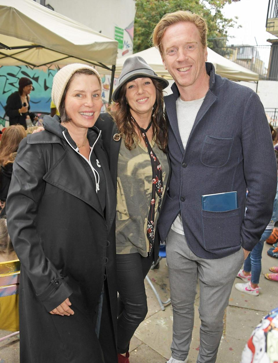 <p>Sadie Frost, Debbi Clark and Damian Lewis attend a performance of the Sir Hubert Von Herkomer Arts Foundation's production of <em>A Brave New World</em>, in memory of patron Helen McCrory, on Aug. 30 in London.</p>