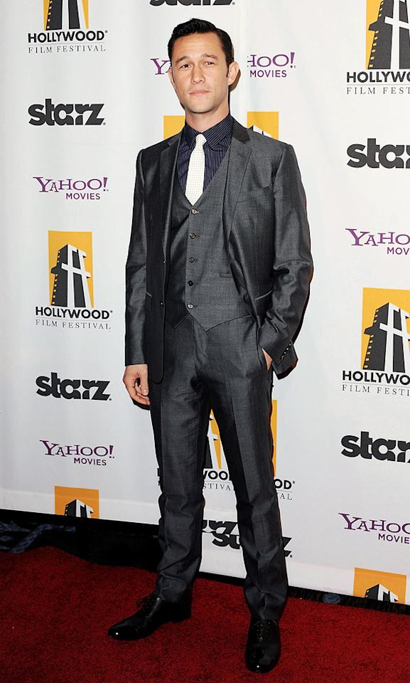 """<a href=""""http://movies.yahoo.com/movie/contributor/1800018554"""">Joseph Gordon-Levitt</a> at the 15th Annual Hollywood Film Awards in Beverly Hills, California on October 24, 2011."""