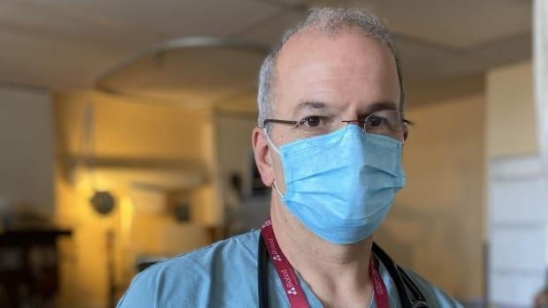 Dr. Patrick Bellemare, who heads the intensive-care unit at Montreal's Sacré-Coeur Hospital, said he had to cancel surgeries this week due to an influx of COVID-19 patients.  (David Gentile/Radio-Canada - image credit)