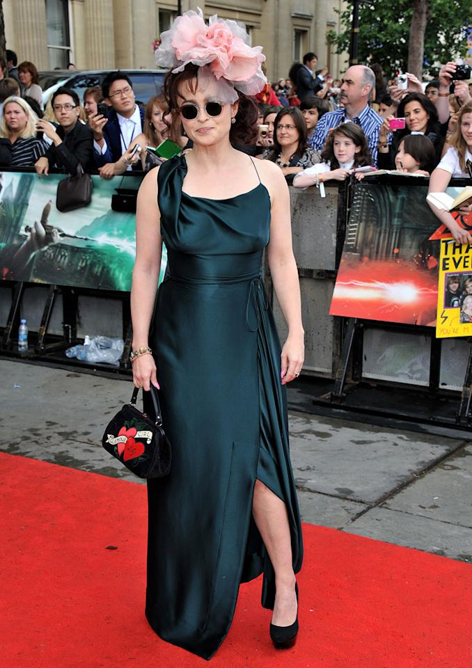 "<a href=""http://movies.yahoo.com/movie/contributor/1800018966"">Helena Bonham Carter</a>  Worst: We adore Helena's playful styles, but the bag, glasses and hat make this outfit more flop than fabulous."