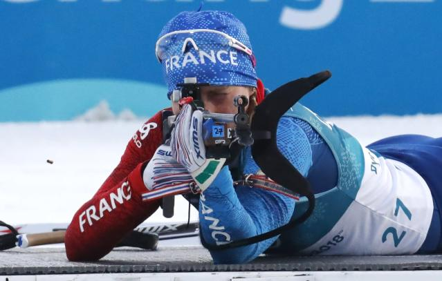 <p>Gold:$55,000 USD<br> Silver:$22,000 USD<br> Bronze:$14,000 USD<br> France's Anais Bescond won the bronze medal in the women's 15KM biathlon at the 2018 Olympic Games.<br>(REUTERS/Toby Melville) </p>