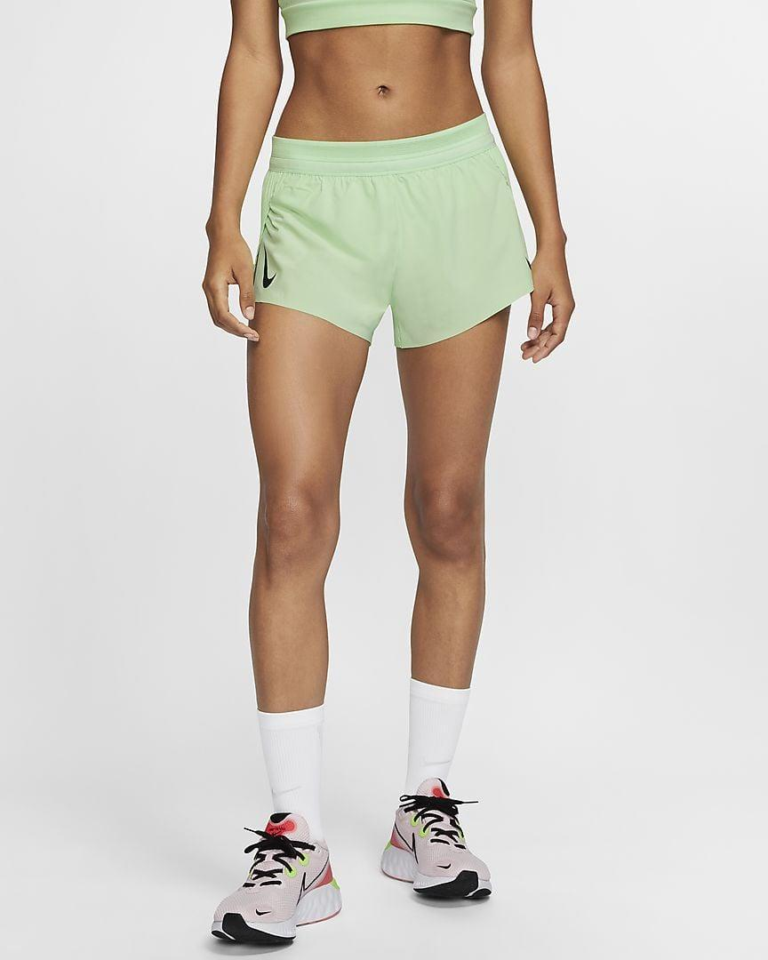 <p>We love the color of these <span>Nike AeroSwift Women's Running Shorts</span> ($65).</p>