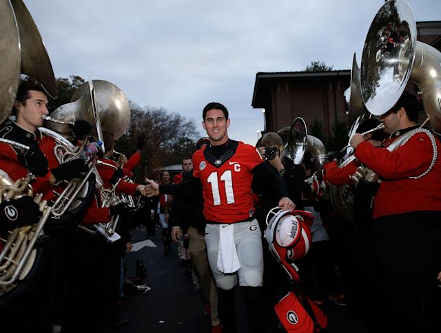 Aaron Murray was a four-year starter at Georgia. (Getty)