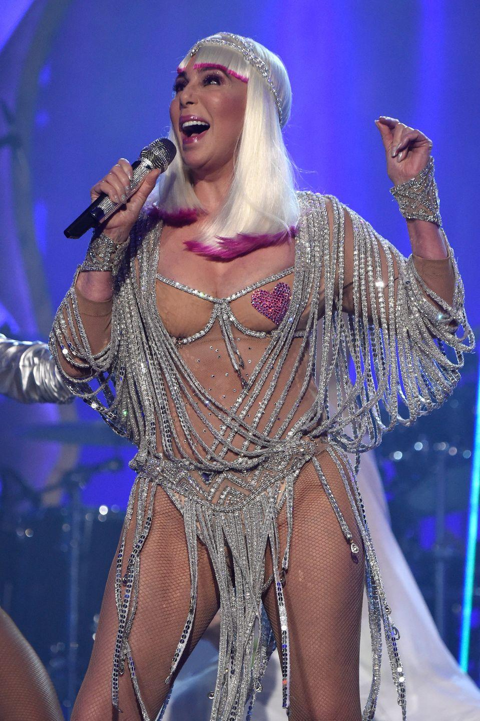 <p>Performing live at the Billboard Music Awards, where she received the Icon Award. </p>