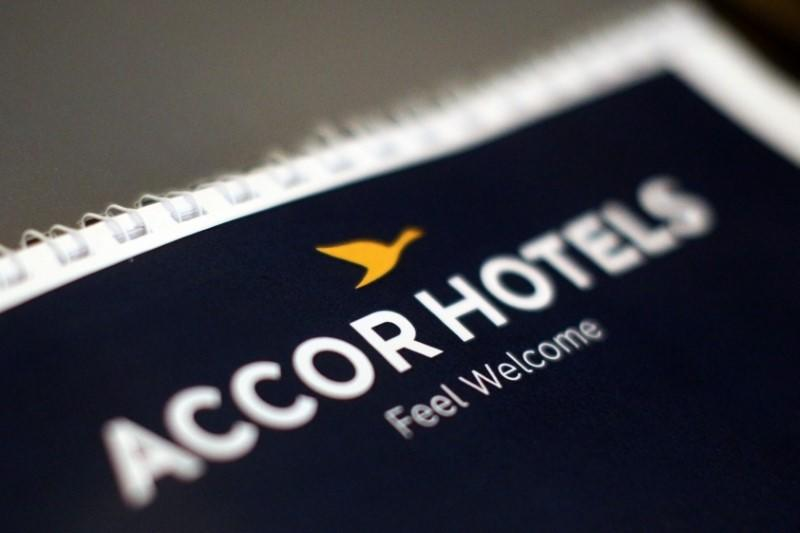 The logos of AccorHotels group is pictured during a news conference at the Pullman Bangkok King Power hotel, in Bangkok, Thailand, June 15, 2017. REUTERS/Athit Perawongmetha/File Photo