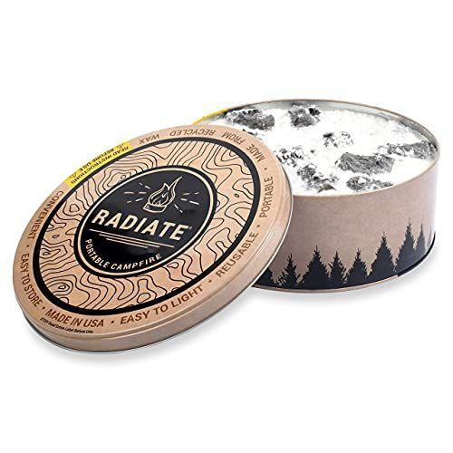 """<p><strong>Radiate</strong></p><p>amazon.com</p><p><strong>$27.99</strong></p><p><a href=""""https://www.amazon.com/dp/B073QXYW38?tag=syn-yahoo-20&ascsubtag=%5Bartid%7C10070.g.27787712%5Bsrc%7Cyahoo-us"""" rel=""""nofollow noopener"""" target=""""_blank"""" data-ylk=""""slk:Shop Now"""" class=""""link rapid-noclick-resp"""">Shop Now</a></p><p>If the dad in your life is a <em>Shark Tank</em> fan, he'll recognize this gift immediately. Featured on Season 9, this portable campfire """"brings a true campfire experience wherever life takes you."""" The campfire can provide a reliable burn for over three hours, and is made from recycled soy wax and recycled paper briquettes.</p>"""