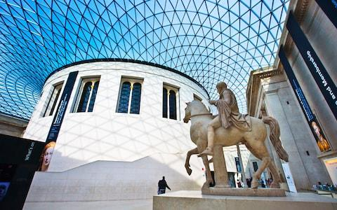 The British Museum runs excellent children's craft workshops from the great hall at half-term - Credit: GONZALO AZUMENDI