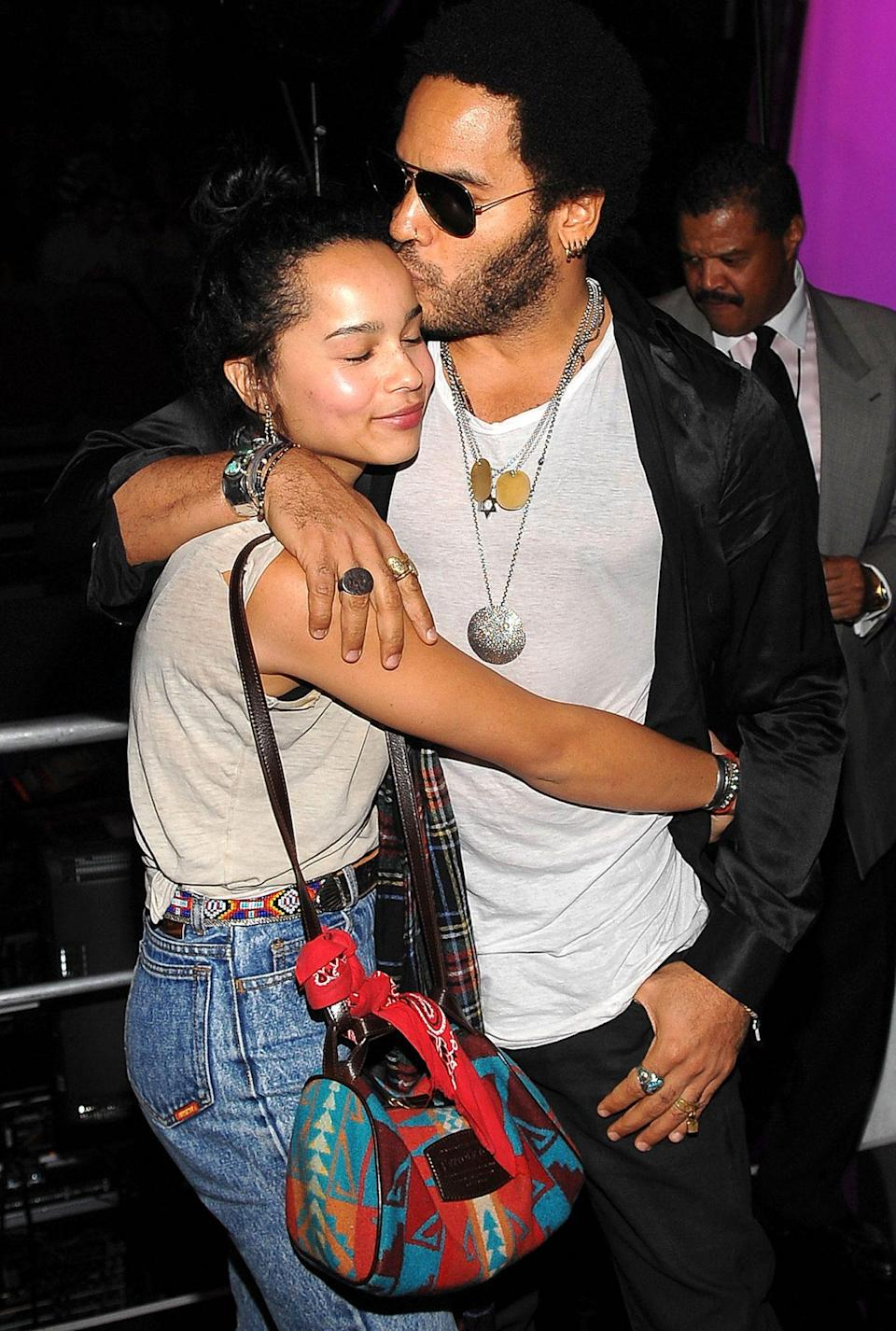 """<p>""""Zoë and I have a very open dialogue,"""" Lenny told <a href=""""https://people.com/music/lenny-kravitz-daughter-zoe-very-open-dialogue-talk-about-anything-exclusive/"""" rel=""""nofollow noopener"""" target=""""_blank"""" data-ylk=""""slk:PEOPLE"""" class=""""link rapid-noclick-resp"""">PEOPLE</a> of the tight bond he and his daughter share. """"We can talk about anything and everything.""""</p> <p>In fact, the musician said their relationship reminds him of the closeness his mother, <em>Jeffersons</em> actress Roxie Roker, had with her own father.</p> <p>""""So when I see the relationship between Zoë and myself, I see the relationship between my mother and my grandfather,"""" he said. """"It makes me very happy that we've elevated to that level.""""</p>"""