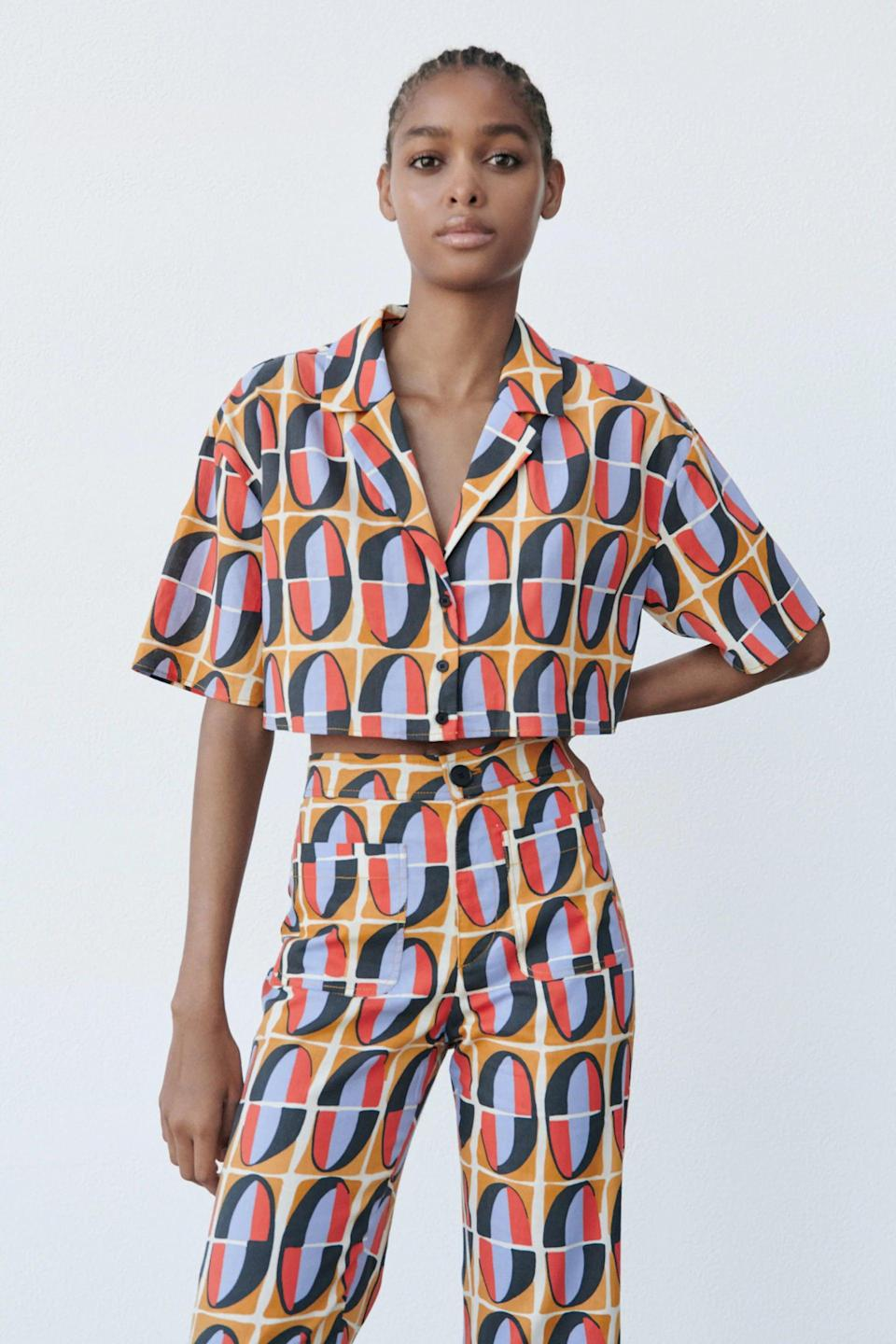 <p>This <span>Print Crop Top</span> ($40) will make a statement in anyone's closet. We can't get over the bright print and cropped silhouette.</p>