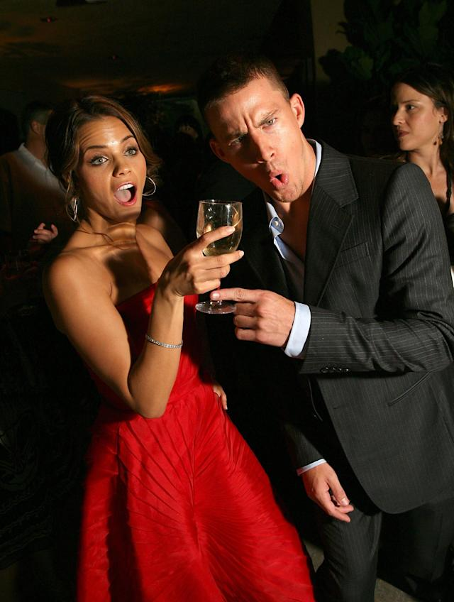 Plus-ones! Jenna Dewan and Channing Tatum attend the after-party for the premiere of <em>Step Up</em> on Aug. 7, 2006, in Los Angeles. (Photo: Michael Buckner/Getty Images)