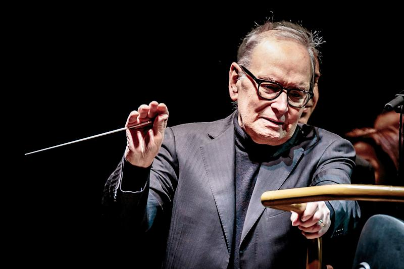 MILAN, ITALY - DECEMBER 02: Ennio Morricone performs on stage on December 2, 2017 in Milan, Italy. (Photo by Sergione Infuso/Corbis via Getty Images) (Photo: Sergione Infuso - Corbis via Getty Images)