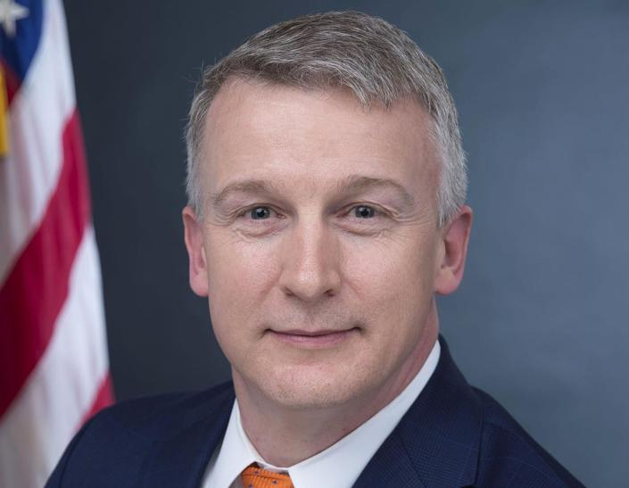 In this image provided by Public Health Emergency, a department of Health and Human Services, Rick Bright is shown in his official photo from April 27, 2017, in Washington. Bright filed a complaint May 5, 2020, with the Office of Special Counsel, a government agency responsible for whistleblower complaints. He's the former director of the Biomedical Advanced Research and Development Authority. Bright alleges he was removed from his job and reassigned to a lesser role because he resisted political pressure to allow widespread use of hydroxychloroquine, a malaria drug favored by President Donald Trump. (Health and Human Services via AP)