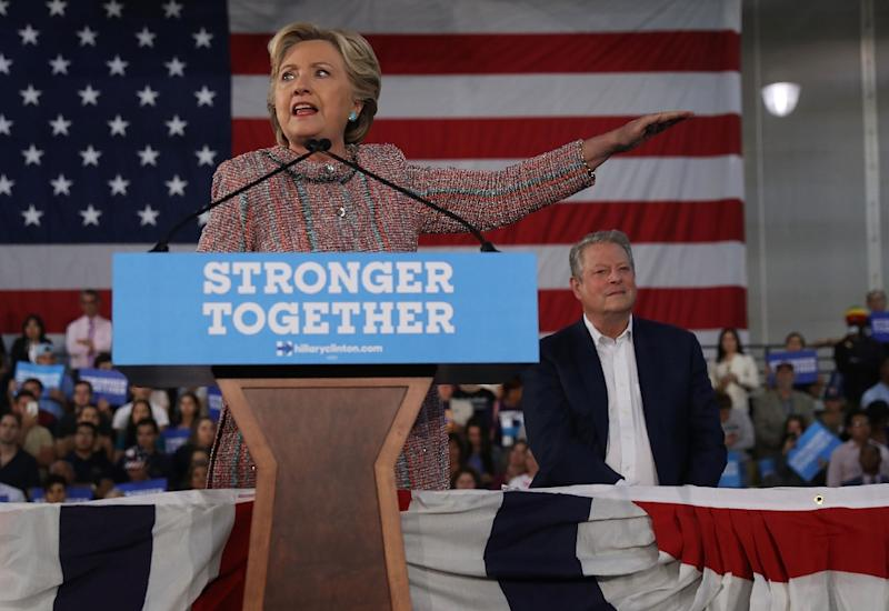 Democratic presidential nominee Hillary Clinton has accused Russia of trying to tilt the presidential election in Republican rival Donald Trump's favor through a series of email hacks
