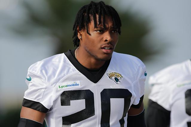 "<a class=""link rapid-noclick-resp"" href=""/nfl/players/29239/"" data-ylk=""slk:Jalen Ramsey"">Jalen Ramsey</a> seems less than happy with the <a class=""link rapid-noclick-resp"" href=""/nfl/teams/jacksonville/"" data-ylk=""slk:Jaguars"">Jaguars</a>. (Getty Images)"