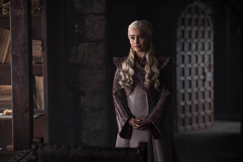 Emilia Clarke as Daenerys Targaryen in <i>Game of Thrones</i>. (Photo: Helen Sloan/HBO)