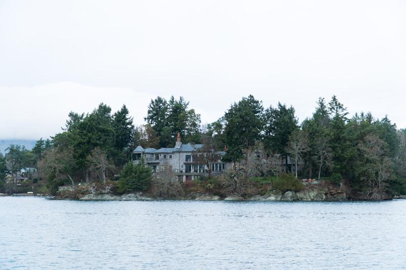 The residence of Prince Harry and and his wife Meghan is seen in Deep Cove Neighborhood from a boat on the Saanich Inlet, North Saanich, British Columbia on January 21, 2020