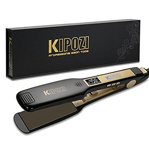 <p>If you prefer a straightener with a thicker width, give this <span>KIPOZI Professional Titanium Flat Iron</span> ($37) a try.</p>