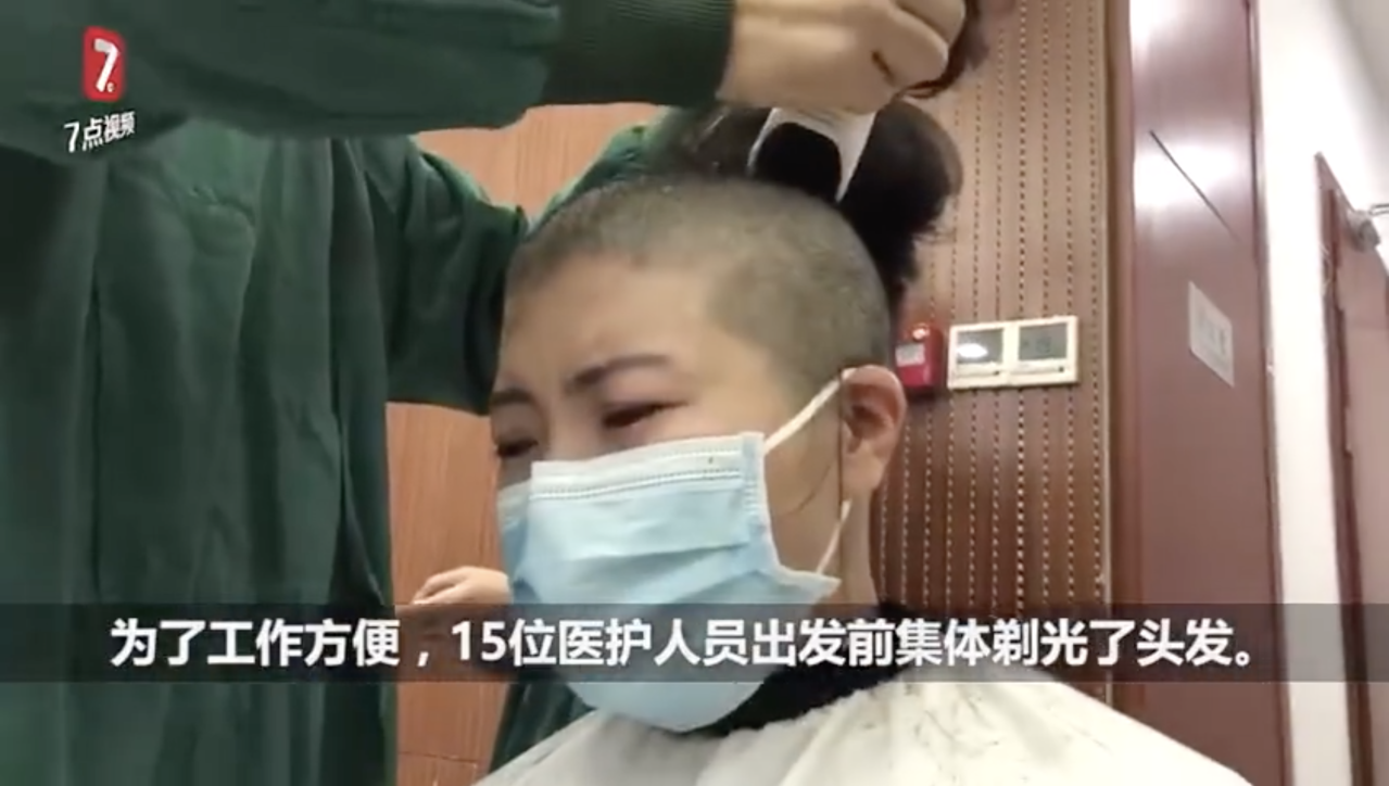 Video of Female Medics in China Having Their Heads Shaved Sparks Backlash Over Propaganda in the Coronavirus Fight