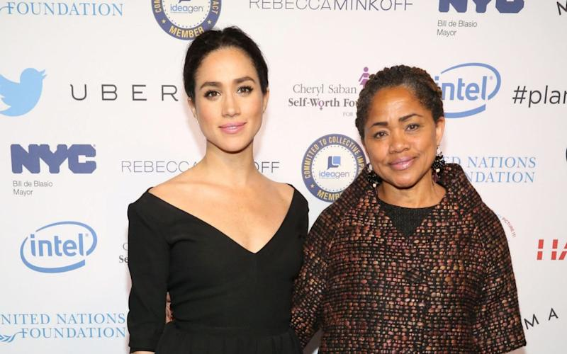 Meghan Markle and her mother Doria - Patrick Mcmullan