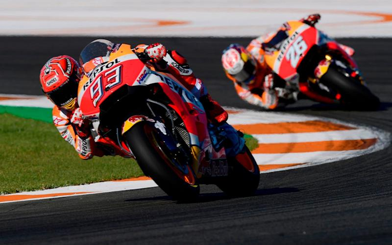 Marc Marquez clinched his sixth title at the Valencia Grand Prix - AFP