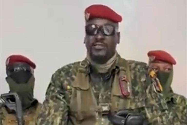 Col. Doumbouya, seen here in a screen grab delivering a speech following the coup, is a combat-hardened ex-French Legionnaire (AFP/-)
