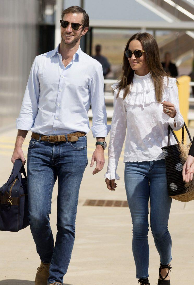 <i>Pippa and James have been spotted in Sydney again [Photo: Rex]</i>