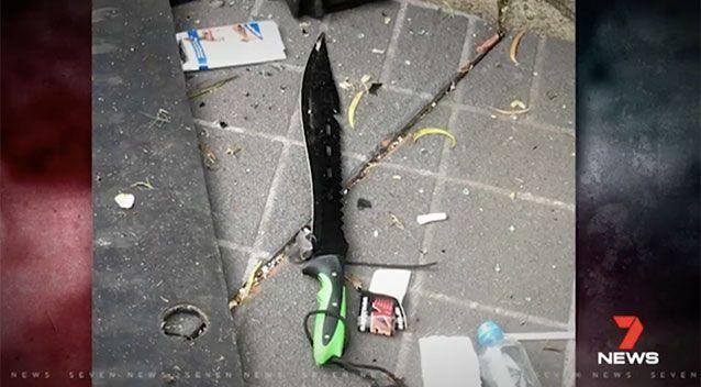Police recovered several weapons from the crashed car. Source: 7 News