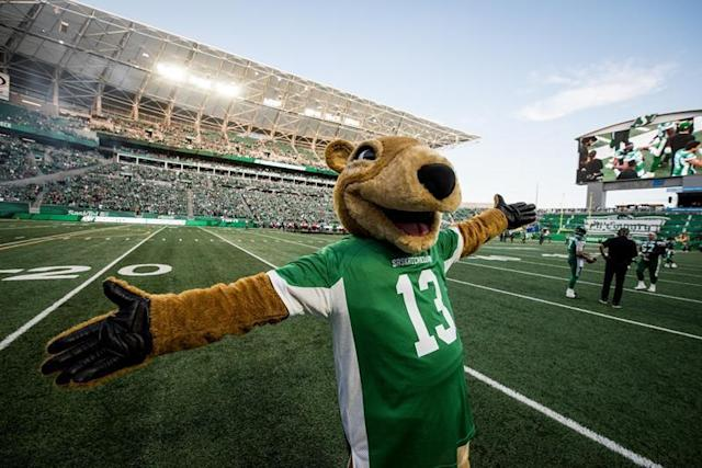 """REGINA — Gainer the Gopher has tossed away the contact lenses and gone back to what works best — dark eyes.The Saskatchewan Roughriders' beloved mascot since 1977 unveiled his second makeover of the week on Saturday when the Riders hosted the Calgary Stampeders. And the early thoughts from fans were more positive than the first time around, with his pre-game introduction drawing a loud ovation from those at Mosaic Stadium.""""Much better. Gainer looks like Gainer again,"""" said longtime Riders fan Maria Green.Gainer showed off his first new look at the team's home opener on July 1 — a 32-7 victory over the visiting Toronto Argonauts — and many Saskatchewan fans were unhappy with the visible changes to the gopher's appearance, especially his eyes.Social media channels flooded with memes and GIFs mocking Gainer's look, a slimmer body and creepy green eyes, and Hashtags BringBackGainer and NotMyGainer trended on Twitter.An online petition asking him to be changed after Monday's game generated more than 4,375 signatures leading up to Saturday night.Dozens of comments on the petition website were negative. The comments describe the changed Gainer as """"creepy and evil looking,"""" """"a psychotic anorexic chipmunk"""" and """"crack binge Gainer.""""The Riders organization chose to remain silent on the controversy through the week, issuing a statement saying: """"We've decided to let Gainer speak for himself.""""And he did.Ahead of kick off against Calgary, the Riders posted a video on social media showing Gainer in the locker-room, where he took his short-lived green contact lenses and threw them into the garbage before heading to the field with black eyes similar to his original look.Craig Slater, The Canadian Press"""