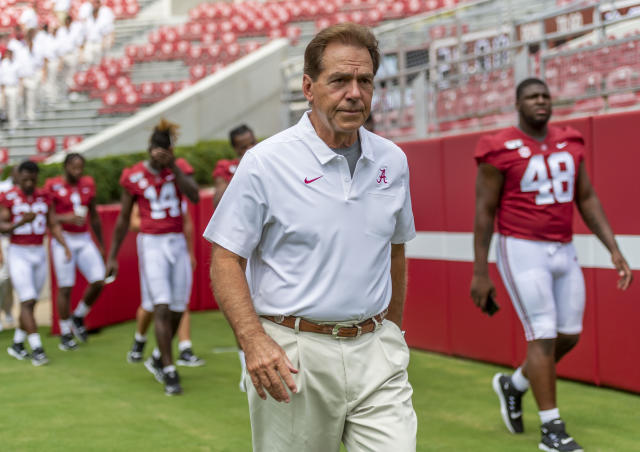 Alabama head coach Nick Saban has a 141-21 record in 12 seasons. (AP Photo/Vasha Hunt)