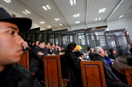 FILE PHOTO: Participants attend a court session for Muslim Brotherhood members, in Cairo, Egypt, December 26, 2018. REUTERS/Amr Abdallah Dalsh//File Photo