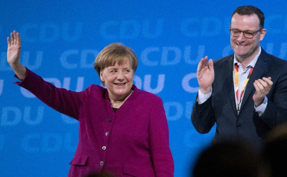Jens Spahn is one of German Chancellor Angela Merkel's loudest critics in her own party (AFP Photo/Stefanie LOOS)
