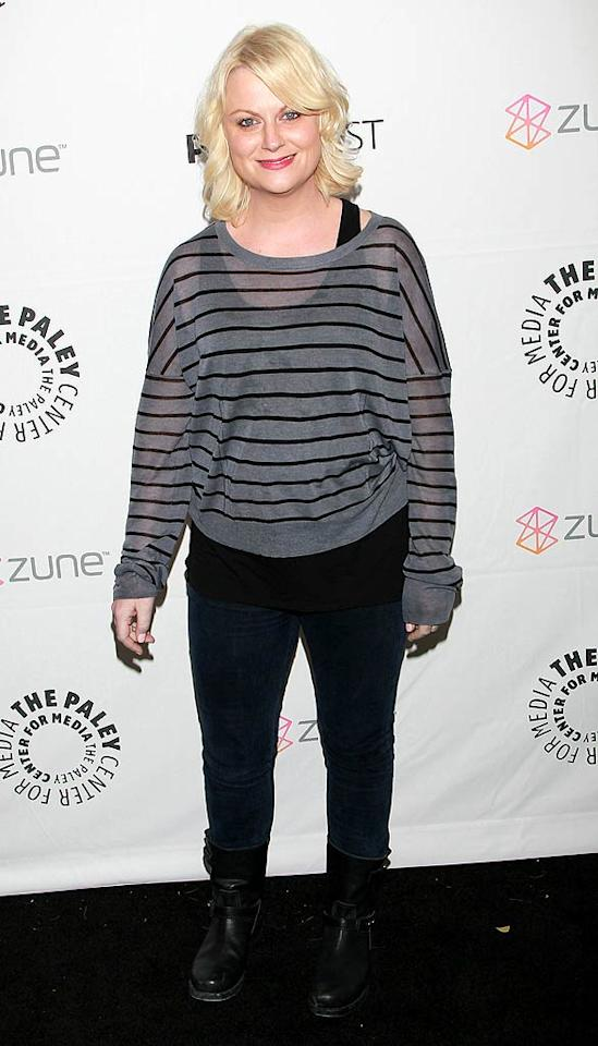 """We love us some Amy Poehler (and her criminally underrated sitcom, """"Parks and Recreation""""), but we're just not feeling the painfully casual look she halfheartedly pulled together for the A-list event honoring """"Freaks & Geeks"""" at the Paley Center for Media in Beverly Hills, California. David Livingston/<a href=""""http://www.gettyimages.com/"""" target=""""new"""">GettyImages.com</a> - March 12, 2011"""