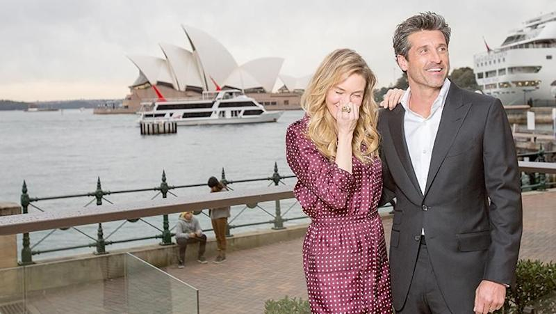 Renee Zellweger and Patrick Dempsey in Sydney. Source: Getty