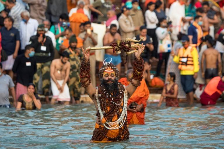 """India's religious Kumbh Mela festival, attended by millions of pilgrims, has become a """"super-spreader"""" event, experts say"""
