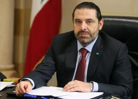 FILE PHOTO: Lebanese Prime Minister Saad al-HarirI is seen during the meeting to discuss a draft policy statement at the governmental palace in Beirut