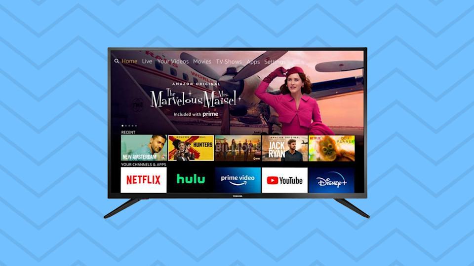 Save nearly 30 percent on this Toshiba 32-inch Smart HD TV—Fire TV Edition. (Photo: Amazon)