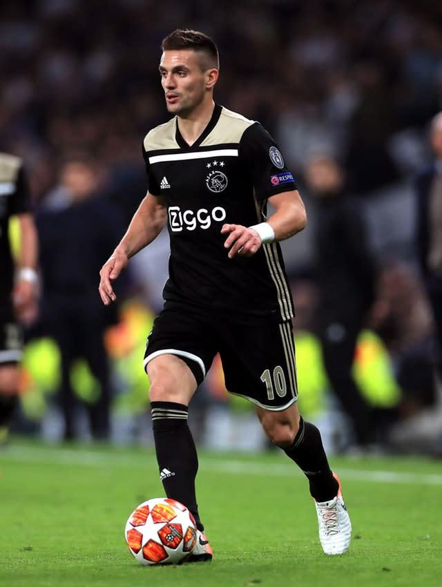 Dusan Tadic shone for Ajax in last season's Champions League (Mike Egerton/PA)